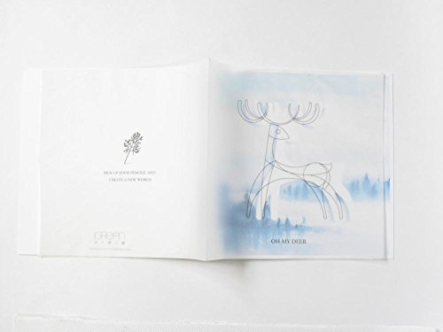 DIY Coloring Card - Oh, My Deer Love Bird for Valentine's Day and Lover, Romantic Card to Express Your Love, - Forest an Lake (Send My Congratulations)