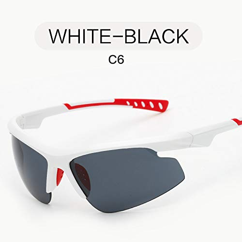 sunglasses nbsp;Tendencia al nbsp;Gafas Gafas Gafas BLACK de Libre Mjia Moda Deportivas de WHITE Hombre de Aire Deportivas Sol nbsp;Sol Negro Gafas qw1wd8Zc