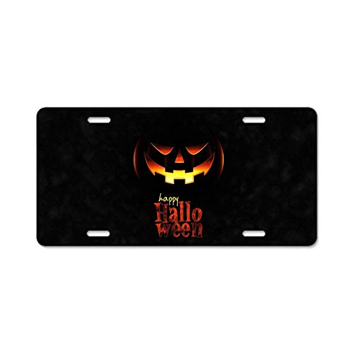 YEX Abstract Holiday Halloween Jack-o-Lantern Happy6 License Plate Frame Car Licence Plate Covers Auto Tag Holder 6
