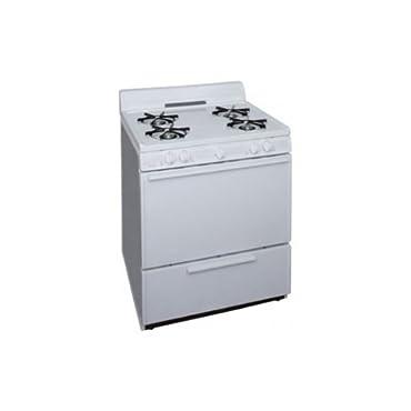 Premier 30 in. 3.91 cu. ft. Freestanding Gas Range in White (SFK100OP)