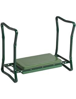 Amazoncom Heavy Duty Foldable Garden KneelerBench Green
