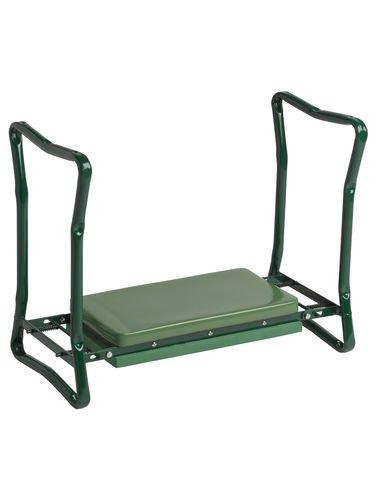Great Gardeneru0027s Supply Company Extra Wide Seat Folding Garden Kneeler Green