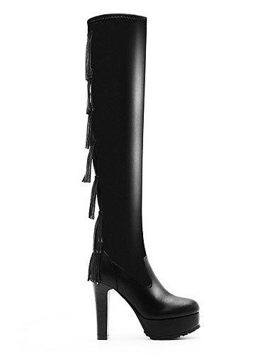 Uk6 Cn36 Black Negro Casual Fiesta Tacón De Vestido Black us6 Mujer us8 Xzz Cn39 Botas Y Eu36 La A Stiletto Moto Zapatos Sintético Moda Uk4 Noche Eu39 qFT7wfR
