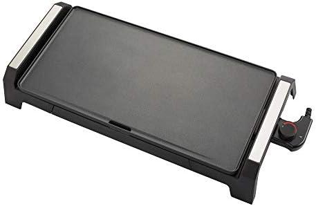 Senya SYCK-G021 Plancha électrique XL 6 à 8 Personnes Plancha Time, Revêtement antiadhésive 2200 W Noire
