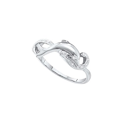 1/20 Total Carat Weight DIAMOND DOLPHIN RING 0.15 Total Carat Weight