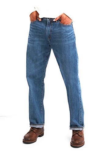 (GAP Men's Jeans in Relaxed Fit, Medium Authentic Indigo Wash, Non-Stretch)