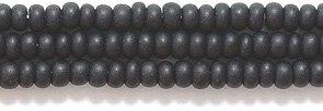 Preciosa Ornela Czech Matte Opaque Seed Bead, Black, Size 10/0