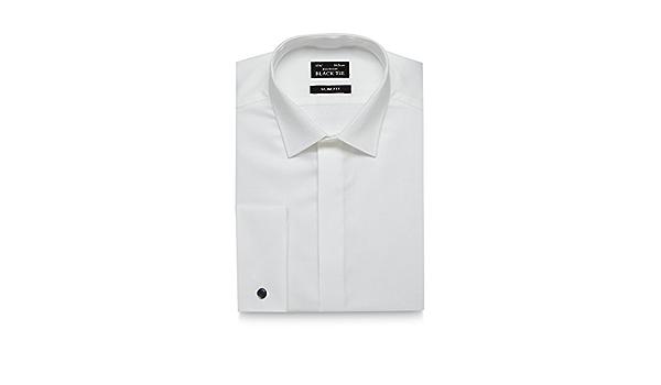 Black Tie Camisa de algodón con Textura de Alto Brillo para ...