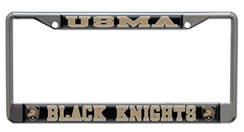 United States Military Academy, West Point Black Knights Metal License Plate Frame, Chrome Plated