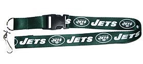 NFL New York Jets Team Color Lanyard, 22-inches, Green (New York Jets Lanyard)