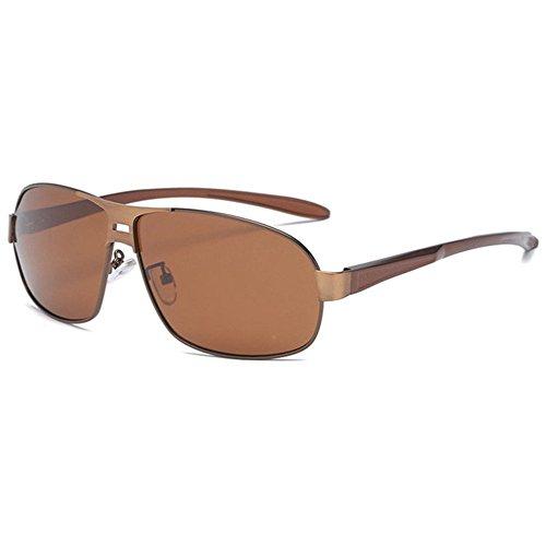 de Regalos creativos clásicas Shing Hombre polarizadas Sol Gafas Doble Sol G Axiba Gafas Color de Cepillado gwfOEqq