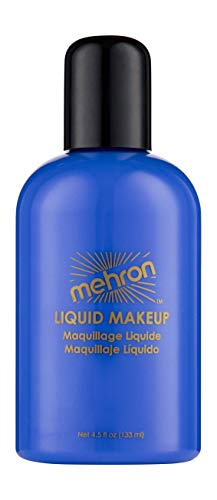 Mehron Makeup Liquid Face and Body Paint (4.5 oz) (BLUE)