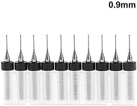 CNC Soft Metals Carbide PCB Rotary Tool MASO 10 Pcs 0.8mm Tungsten Carbide Micro PCB Drill Bits, 1//8 Shank for PCB Dremel Engraving Tool Jewelry Print Circuit