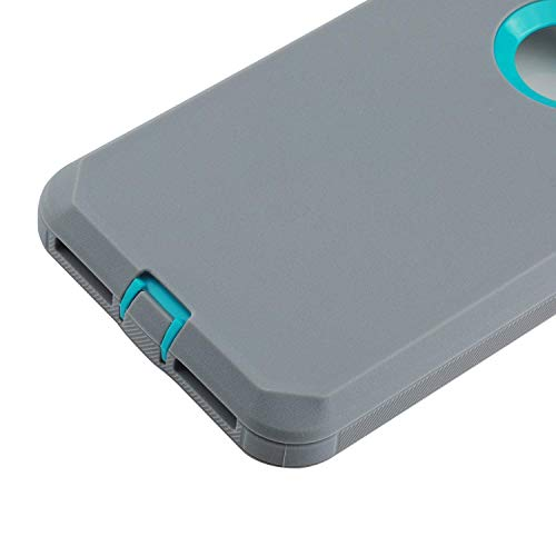smartelf Case for iPhone 7 Plus/8 Plus Heavy Duty With Built-in Screen Protector Shockproof Dust Drop Proof Protective Cover Hard Shell for Apple iPhone 7+/8+ 5.5 inch-Grey/Green