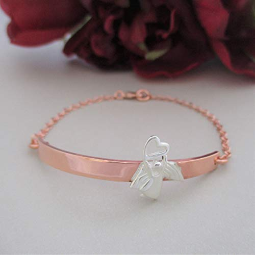 inspiration prayer Bracelet - angel jewelry - heart bracelet - angel Bracelet - gift for her - Bracelet Size: 7.5 inch
