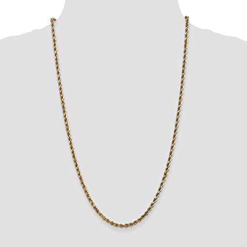 ICE CARATS 14k Yellow Gold 3.5mm Link Rope Lobster Clasp Chain Necklace 30 Inch Handmade Fine Jewelry Gift Set For Women Heart by ICE CARATS (Image #5)