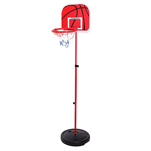 Best Mini Portable Adjustable Basketball Hoop Set with Height Range 1.5ft - 5.5ft, Suited for Indoor and Outdoor, that is good for toddlers, teenagers and kids of all ages