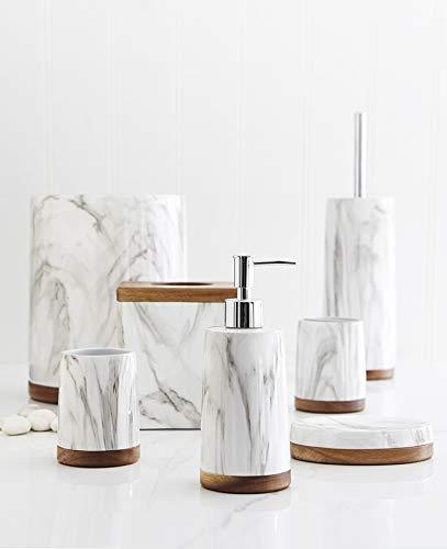 Harman Tissue Box Cover Bathroom Decor, Bathroom Accessories, Storage Organizers, White Resin Square 6x6
