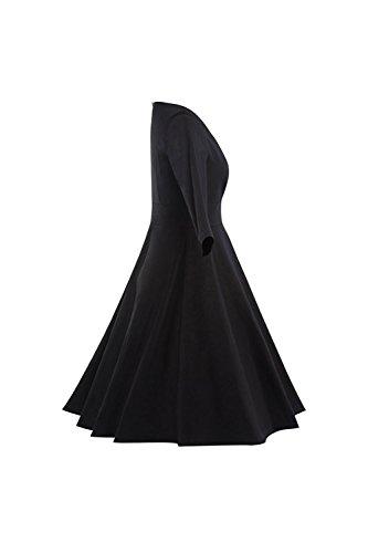 1940er Jahre Vintage Wickeloptik geraffte Swing Party Kleid für ...