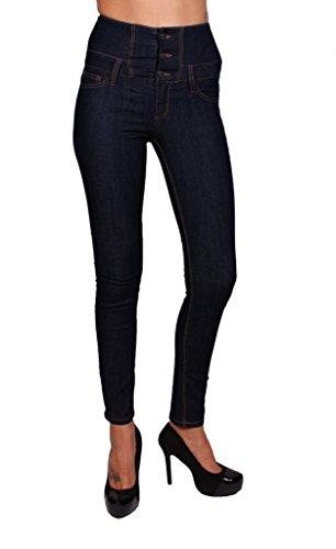 4f6de4af4ba16 Cello Jeans Women High Waisted Skinny Jeans 1 Midnight Dark Denim
