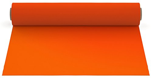 Firefly Craft Heat Transfer Vinyl for Silhouette and Cricut, 12.5 Inch by 5 Feet Roll, Deep Orange