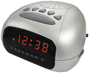 slick am fm digital alarm clock radio home audio theater. Black Bedroom Furniture Sets. Home Design Ideas