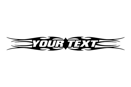 esign #113 Your Custom Text Personalized Customized Lettering Tribal Windshield Decal Sticker Vinyl Graphic Rear Back Window Banner Car Truck SUV | 36
