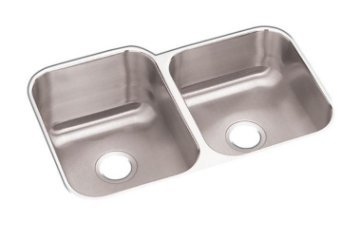 Elkay Undermount Stainless Steel 32 in. Double Bowl Kitchen Sink HDU312010R by Elkay