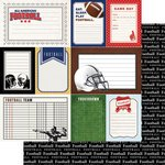 Football Sports Journal (36582) 12 Inch x 12 Inch Double-Sided Scrapbook Paper - 1 Sheet