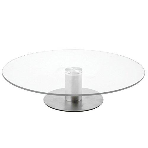 Kuchenplatte Glas drehbar Tortenplatte Kuchen-Platte Tortenständer Buffet 30cm