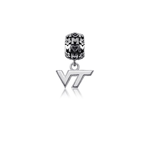 Virginia Tech Jewelry - Sterling Silver Hokies Jewelry by Dayna Designs (Mom Charm Bead)