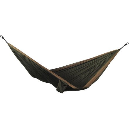Grand Trunk Single Parachute Hammock Olive Green/Khaki, One Size, Outdoor Stuffs