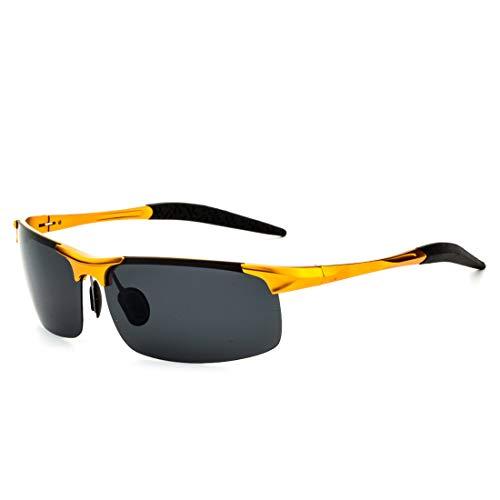 de Sol Lens Gafas aleación Frame de los Gold Ultraligero cuadradas Silver Hombres Lens Black Black de Sakuldes de Sol polarizada Gafas protección UV de Color Frame Axwq4t