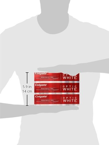 Colgate Optic White Whitening Toothpaste, Sparkling Mint - 5 ounce (6 Pack) by Colgate (Image #6)