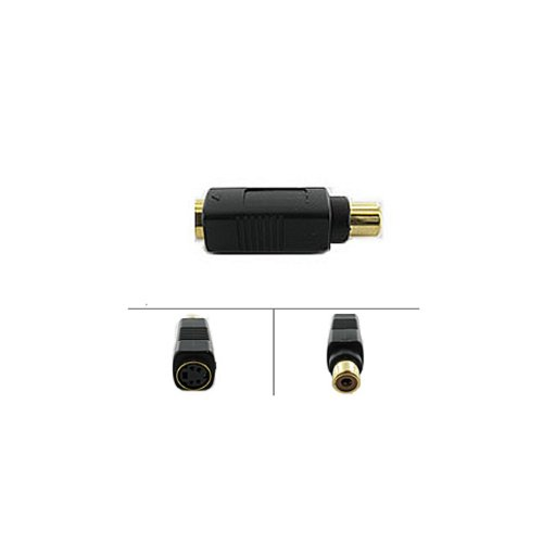 S-Video Female to Single Video RCA Female Adapter - by Abacus24-7 Cmple