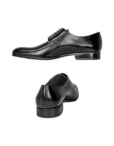 Moreschi Mannen Liverpool Zwart Zwart Leder Veterschoenen