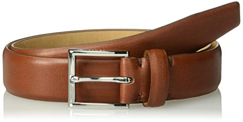 [해외]Cole Haan 남성용 32mm 텍스처 가죽 벨트 / Cole Haan Men`s 32mm Textured Leather Belt, British TanPolished Nickel, 34