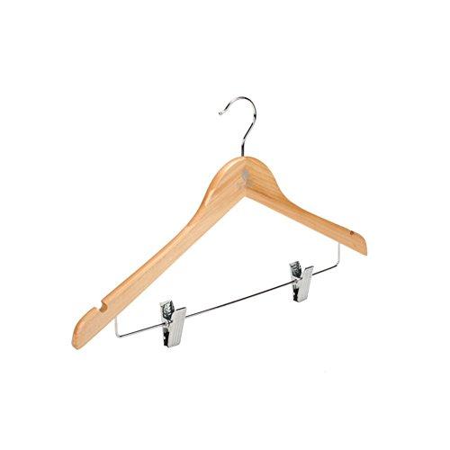 (SE7VEN Non-slip Solid Wood Coat Hanger/Trouser Press/Garment Racks/Drying Clothes Hanging/Coat)