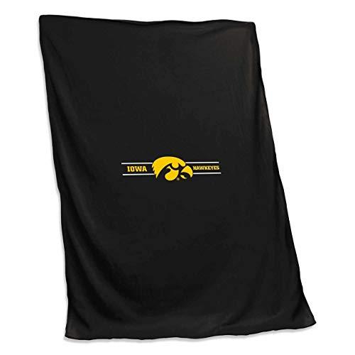 Blanket Iowa Fleece (Logo Iowa Hawkeyes NCAA 54 X 84 Fleece Sweatshirt Blanket - Team Color,)