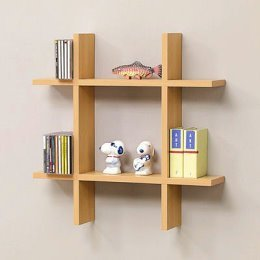 home or office tic tac toe wall shelf tan