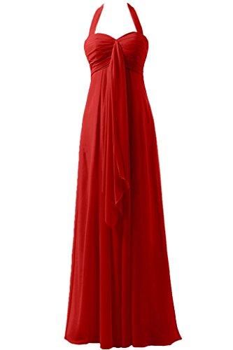 sera della garza da Rosso line 'Empire a Halter donna Sunvary vita da abito d'onore 24W xAvqfFI