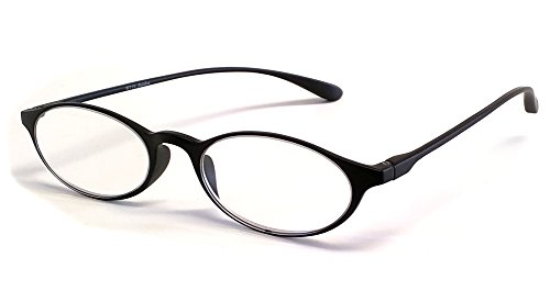Calabria Reading Glasses - 719 Flexie in Ebony +2.50 (Flexible Reading Glasses)
