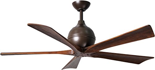 Matthews IR5-TB-WA-52 Irene 52 Outdoor Ceiling Fan with Remote Wall Control, 5 Wood Blades, Textured Bronze