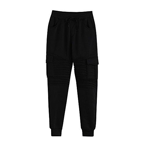 Spbamboo Mens Pants Slacks Casual Elastic Joggers Sport Baggy Pockets Trousers by Spbamboo (Image #1)