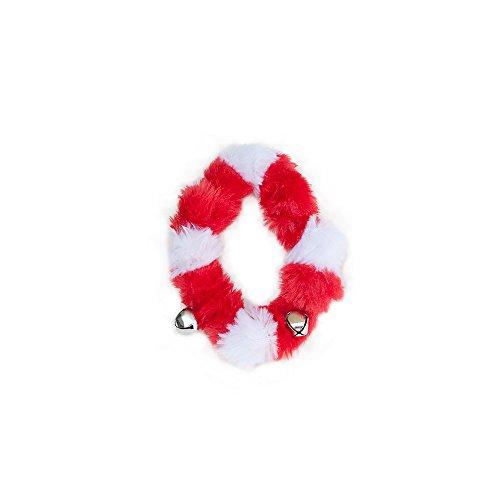 ZippyPaws Holiday Santa Collar with Bells - Christmas Dog Ac