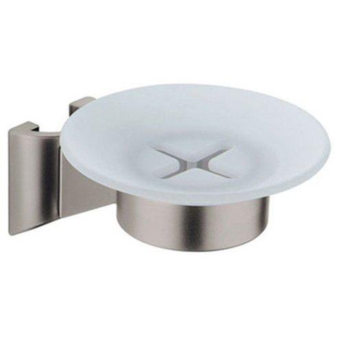 Soap Dish Shower Bar Mount - Grohe 28 186 AV0 Shower Bar Soap Dish, Infinity Satin Nickel