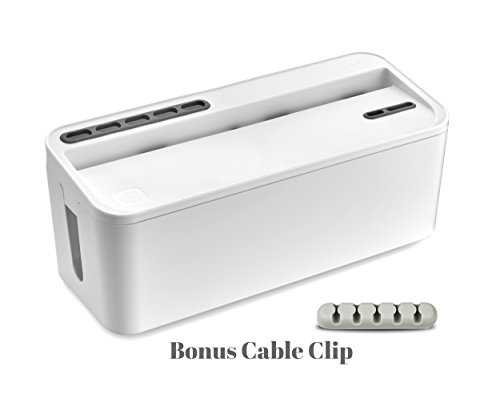 Bins & Things Cable Management Box and Power Strip Organizer