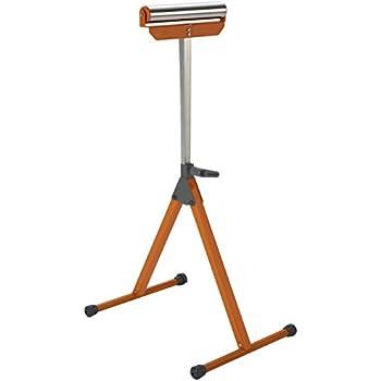 Kobalt Steel Adjustable Table Roller Stand Portable Support Non Slip End Caps