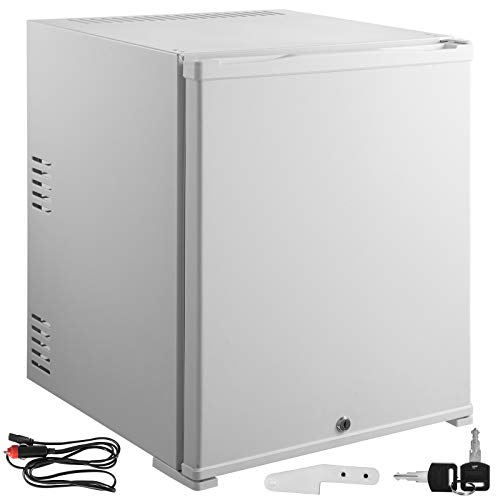 VBENLEM 1.4cu.ft 110V 12V Portable Refrigerator AC DC No Noise Compact Absorption Fridge 40L White Mini Car Cooler with Lock Reversible Door for Apartment Hotel Hospital Camping Traveling Vehicle RV B (Best Vehicle For Traveling And Camping)