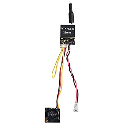 Wolfwhoop Q2 5.8GHz 25mW 40CH FPV Transmitter and Micro Camera with OSD Interface for Mini Drone/RC Car/RC Boat by Wolfwhoop